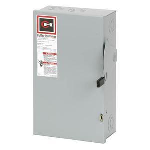 Eaton DG322NGB Safety Switch, 60A, 3P, 240V, Type DG, Fusible, NEMA 1