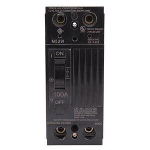 ABB TQD22100WL Breaker, Molded Case, 100A, 2P, 240VAC, 10kAIC, Line/Load Lugs