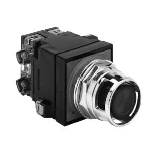 GE CR104PBL11L3L8 Push Button, Illuminated, Extended Blue Head, 1NO/NC, 24V Lamp
