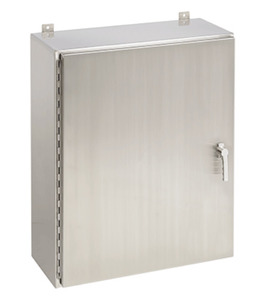 Hoffman A24H2006SS6LP3PT SS Enclosure, Hinged, 3-Point Latch, Type 4X