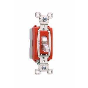 Pass & Seymour PS20AC1-CSL Illuminated Switch, 20A, Clear, Lighted when OFF