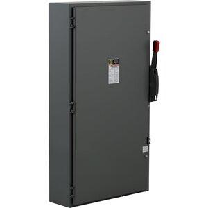 Square D H366 Disconnect Switch, Fusible, NEMA 1, 600A, 3P, 600VAC, Heavy Duty