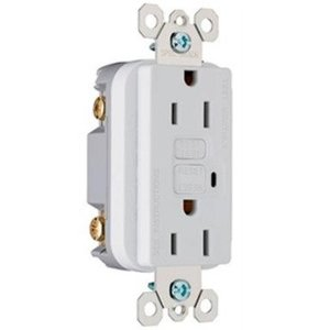Pass & Seymour 2095-SW GFCI Receptacle, 20A, 125V, White *** Discontinued ***