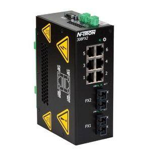 N-TRON 308FXE2-SC-15 Ethernet Switch, 8 Port, Unmanaged, 10-30VDC, 10/100BaseTX