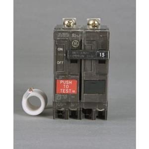 GE THQB2120GF Breaker, 20A, 2P, 120/240V, Q-Line Series, 10 kAIC, Bolt-On, GFCI