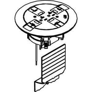 Wiremold 897CTCBS Floor Box Activation with Brass Flange