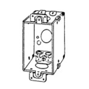 "EGS 173F Switch Box, Gangable, 2-1/2"" Deep, AC/MC/Flex Clamps, Ears"