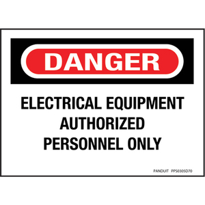 Panduit PPS0305D70 Adhesive Sign, Polyester, Danger Header,