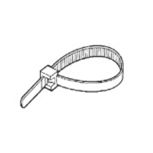 "Topaz NT1450 Cable Tie, 14"" Long, Nylon, White, 50lb Rating, 100/PK"