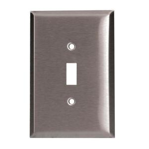 97071SS 1GANG TOGGLE SWITCH PLATE SS