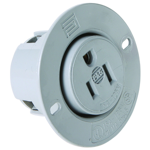 Pass & Seymour 5279-SS STR BLD FLANGED OUTLET 3W 15A 125V