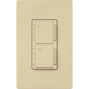 Lutron MACL-LFQH-IV Dimmer/Fan Control, LED, Meastro, Ivory