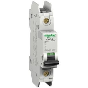 Square D 60117 Breaker, Miniature, 0.5A, 240V, 1P, DIN Rail Mount, Lug In, Lug Out