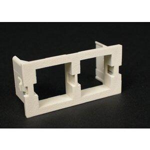 Wiremold CM2-U2ATT Dual Unloaded Systimax Module, Non-Metallic, Ivory
