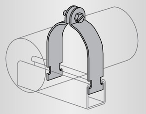 Power-Strut PS1200-5/8-EG 100 Pair O.d. Tubing Clamp