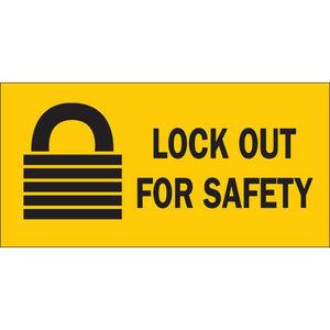 "Brady 88303 2-1/4""x4-1/2"" Self-Sticking Polyester Lockout Sign"