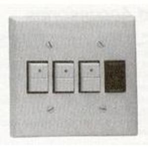 GE Lighting RP2-237 Wallplate/RPW Low Voltage Switch, 2-Gang, (3) Switches, Nylon, White