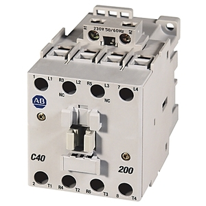 Allen-Bradley 100-C43A10 Contactor, IEC, 43A, 3P, 240VAC Coil, 1NO