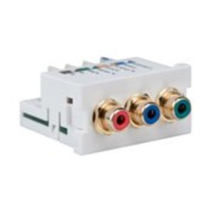 Leviton 41292-DEW RCA Component Video 110-Termination MOS Module, White *** Discontinued ***