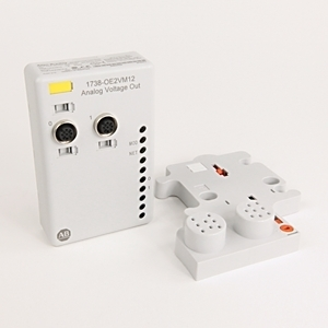 Allen-Bradley 1738-OE2VM12 I/O Module, Analog, 2 Source Outputs, DC Micro M12, 14 Bits
