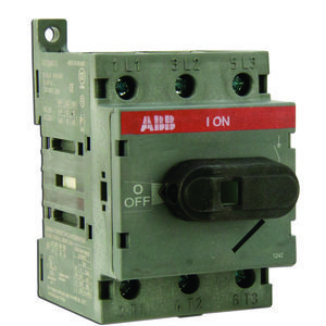 ABB OT63F3 Disconnect switch, Non-Fused, 60A, 3P, 690VAC, Front Operated