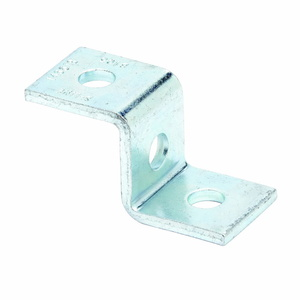 Eaton B-Line B105ZN THREE HOLE Z-SUPPORT FOR B22 CHANNEL, ZINC PLATED