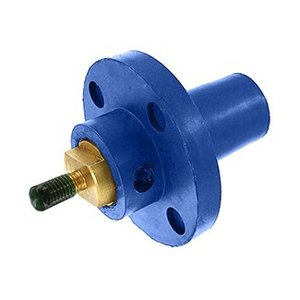 Leviton 17R22-B Female, Panel Receptacle, 90 Deg., 250-750 MCM, Threaded Stud, Cam-Type, Blue