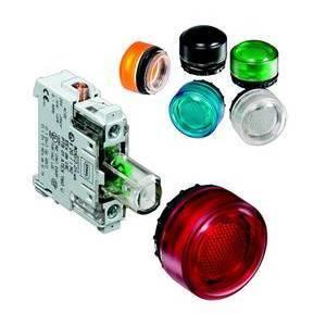 R. Stahl 8010010010 Indicating Light, White LED, 12-240V AC/DC, Back Mount
