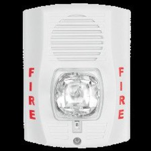 Honeywell P2RH-LF Horn/Strobe, 2-Wire, Wall Mount, 24V, Type: Low Frequency, Red
