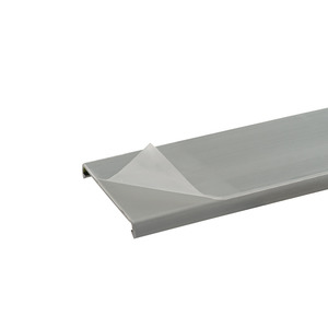 "Panduit C2LG6-F PANDUCT Wiring Duct Cover, 2"" x 6', PVC, Gray, Protective Film"