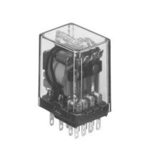 Tyco Electronics KHAU-17A12-120 Relay, Ice Cube, 5A, 14-Blade, Solder, 4PDT, 120VAC, No Options