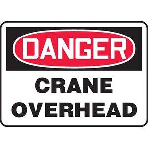 """Panduit PVS1014D7122 10.00"""" x 14.00"""" Danger, CRANE OVERHEAD *** Discontinued ***"""