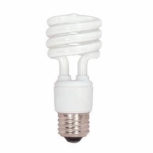 Satco S7217 Compact Fluorescent Lamp, Mini-Twister, 13W, 2700K