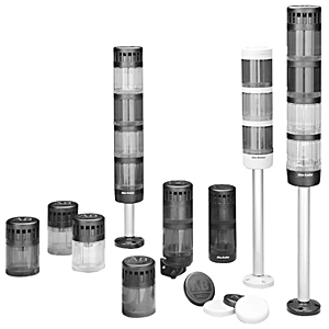 Allen-Bradley 855TP-B24L4K1 Pre-Assembled Control Tower Stack Light, Size: 70mm, 10cm Pole Mount