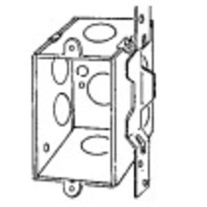 "Appleton 333VB Switch Box, Gangable, 3"" x 2"", 2-3/4"" Deep, Steel"