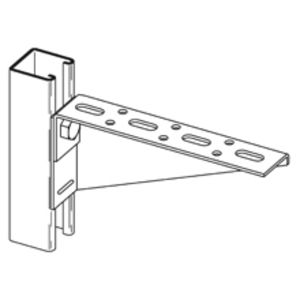 Eaton B-Line B175SHRZN SLOTTED BRACKET RIGHT 26-IN. ZINC PLATED