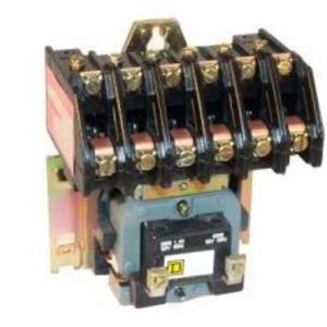 Square D 8903LO60V02 Contactor, Lighting, 30A, 600VAC, 120VAC Coil, 6P, 6NO Contacts