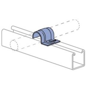 "Unistrut P2010-EG 3/8"" EG 1 Hole O.D. Tubing Clamp"