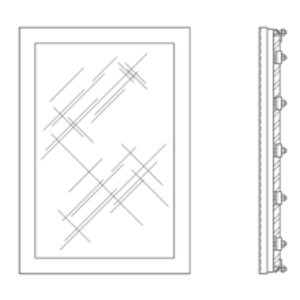Eaton B-Line PWK1711SS TYPE 4X STAINLESS STEEL FRAMED WINDOW KIT