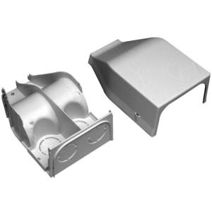 Wiremold 2310DFO-WH 2300 Raceway Divided Entrance End Fitting
