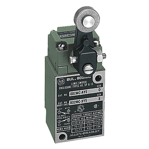 Allen-Bradley 802MC-XY8 Limit Switch, Body Only, Factory Sealed, Corrosion Resistant, Lever