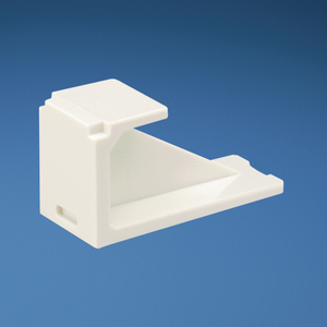 Panduit CMBEI-X Snap-In Blank, Mini-Com, Electric Ivory, Package of 10