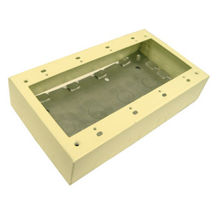 Wiremold V5748-4 Device Box, 4-Gang, 500/700 Series Raceway, Ivory