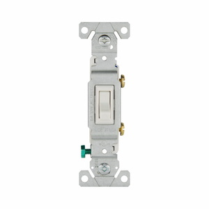 Eaton Wiring Devices 1301-7W Toggle Switch, S/P, 15A, 120V