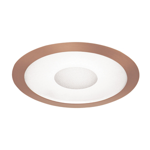 "Juno Lighting 242-ABZ Shower Trim, 6"", Classic Aged Bronze Trim, Frosted Lens/Clear Center"