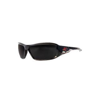 Wolf Peak XB116-P1 Eyewear, Black, American Flag Frame/Smoke Lens, Non-Polarized