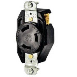 Hubbell-Bryant 70920FR Lkg Rcpt, 20a 600v, L9-20r, Bk