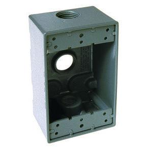 Hubbell-Raco 5324-0 Weatherproof Box, 1-Gang, Die Cast