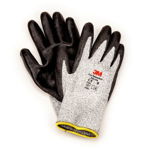 3M CGL-CRE Comfort Grip Gloves, Cut Resistant, Large, Gray