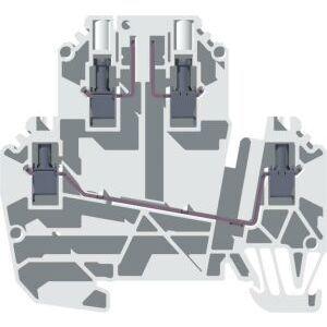 Allen-Bradley 1492-JD3P Terminal Block, 2 Circuit, Plug-In, 20A, 300V AC/DC, Gray, 2.5mm
